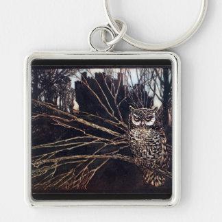 Vintage Night Owl Rackham Keychain