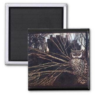 Vintage Night Owl Rackham Magnet