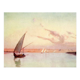 Vintage Nile River Sea Ocean Sailboat Talbot Kelly Postcard
