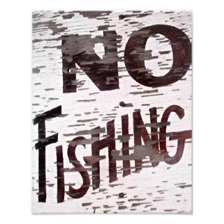 Vintage ninguna muestra de la pesca fotografías