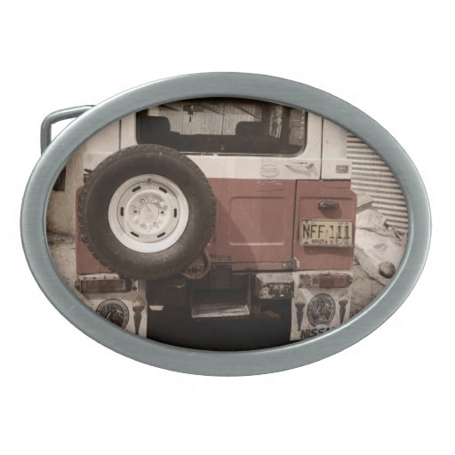 Vintage Nissan Hebillas De Cinturon Ovales