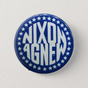 Seven Vintage Policital Pins...Nixon Now Pins...Tin Litho Pin Back Buttons...Nice Condition...Set of 7...1960/'s Political Pins