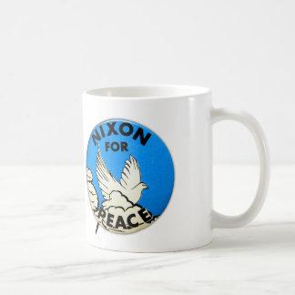 Vintage Nixon For Peace Button Coffee Mug