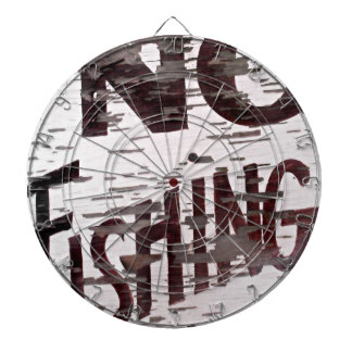 Vintage No Fishing Sign Dartboard