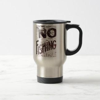 Vintage No Fishing Sign Mugs