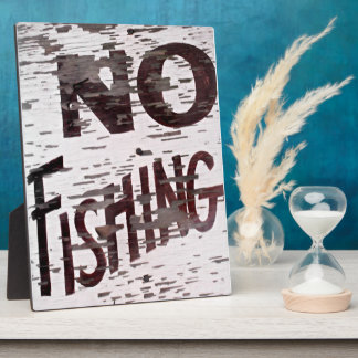 Vintage No Fishing Sign Plaque