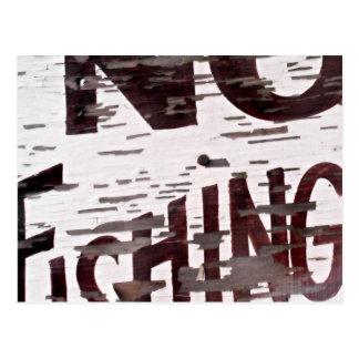 Vintage No Fishing Sign Postcard