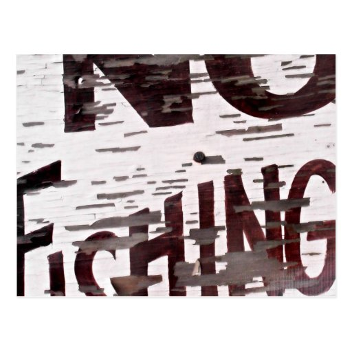 Vintage no fishing sign postcard zazzle for Vintage fishing signs