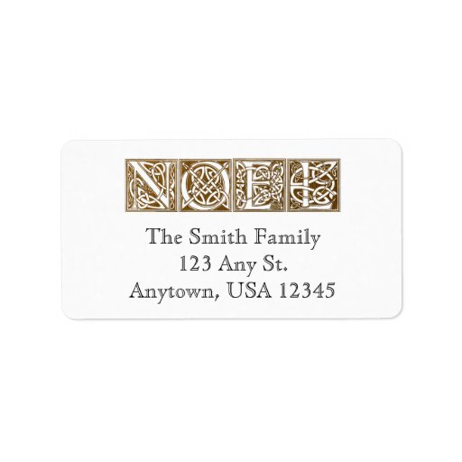 Vintage Noel Christmas Address Labels
