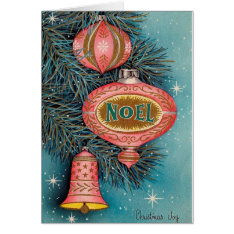 Vintage Noel Christmas Card at Zazzle