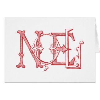 Vintage Noel Holiday Card