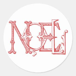 Vintage Noel Holiday Sticker