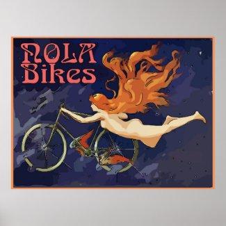 Vintage NOLA Bikes Angel Poster