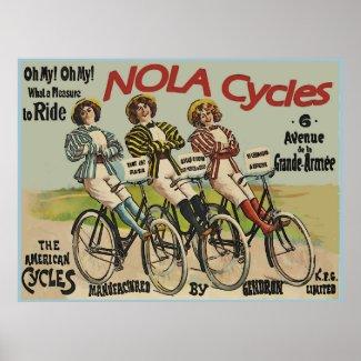 Vintage NOLA Cycles Ad Print