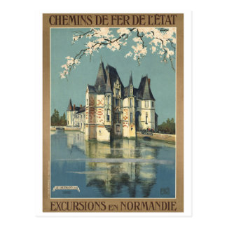 Vintage Normandie France Railways Postcard