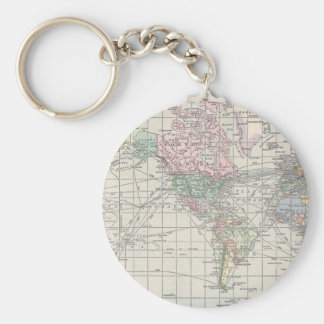 Vintage north america map key chains