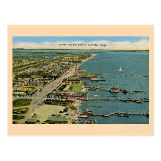 Vintage North Beach, Corpus Christi, Texas Postcard