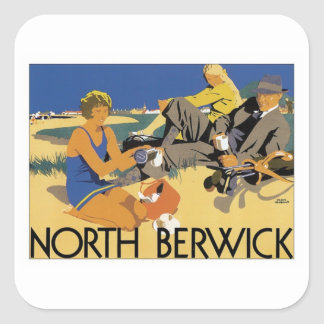 Vintage North Berwick Square Sticker
