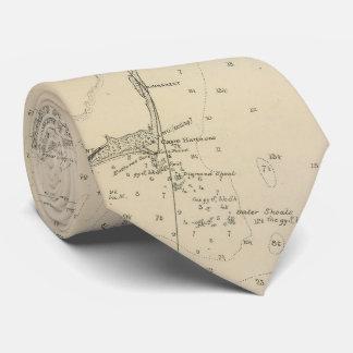 Vintage North Carolina and Virginia Coastal Map Neck Tie