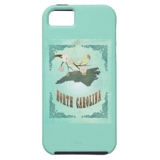 Vintage North Carolina State Map – Turquoise Blue iPhone 5 Cover