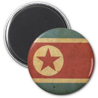 Vintage North Korea Flag 2 Inch Round Magnet