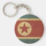 Vintage North Korea Flag Basic Round Button Keychain