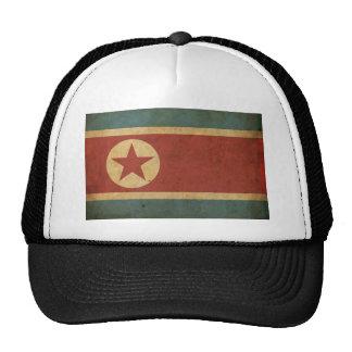 Vintage North Korea Flag Mesh Hats
