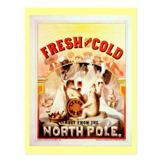Vintage North Pole Beer, Fresh And Cold Postcard