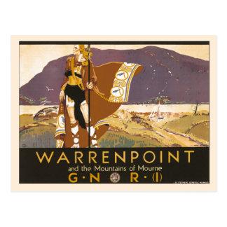 Vintage Northern Ireland Warrenpoint ad Post Cards