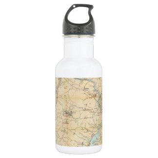 Vintage Northern Virginia Civil War Map (1862) 18oz Water Bottle