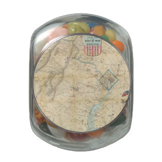 Vintage Northern Virginia Civil War Map (1862) Jelly Belly Candy Jar