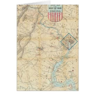 Vintage Northern Virginia Civil War Map (1862) Card
