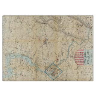 Vintage Northern Virginia Civil War Map (1862) Cutting Board