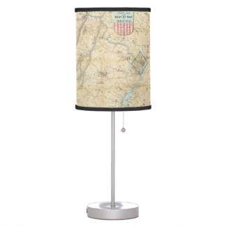Vintage Northern Virginia Civil War Map (1862) Desk Lamp