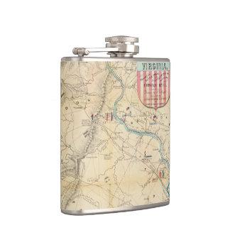 Vintage Northern Virginia Civil War Map (1862) Flask