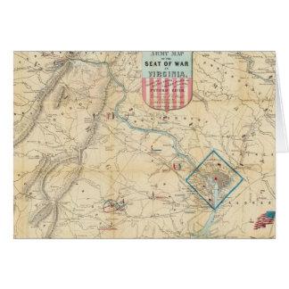 Vintage Northern Virginia Civil War Map (1862) Greeting Card