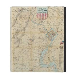 Vintage Northern Virginia Civil War Map (1862) iPad Folio Case