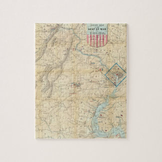 Vintage Northern Virginia Civil War Map (1862) Jigsaw Puzzle