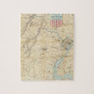 Vintage Northern Virginia Civil War Map (1862) Jigsaw Puzzle