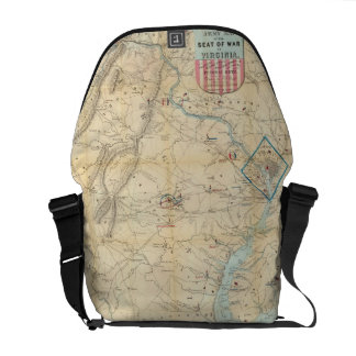 Vintage Northern Virginia Civil War Map (1862) Courier Bags