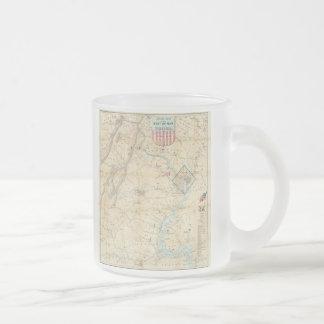 Vintage Northern Virginia Civil War Map (1862) 10 Oz Frosted Glass Coffee Mug