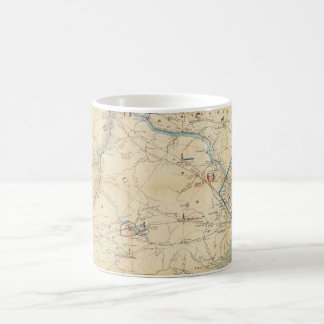 Vintage Northern Virginia Civil War Map (1862) Classic White Coffee Mug