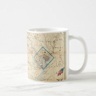 Vintage Northern Virginia Civil War Map 1862 Mug