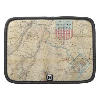 Vintage Northern Virginia Civil War Map 1862 Planners