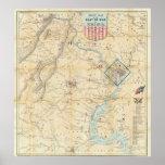 Vintage Northern Virginia Civil War Map (1862) Print