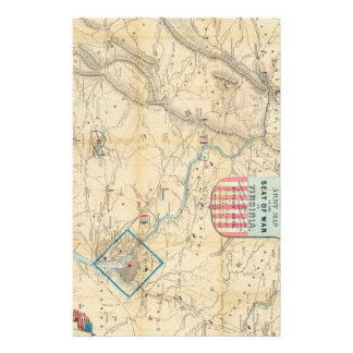 Vintage Northern Virginia Civil War Map (1862) Stationery