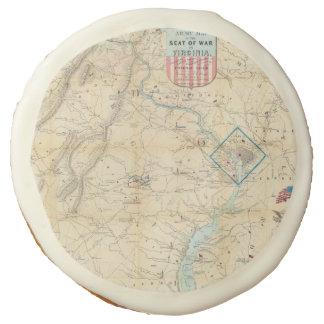 Vintage Northern Virginia Civil War Map (1862) Sugar Cookie