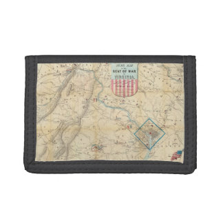 Vintage Northern Virginia Civil War Map (1862) Trifold Wallet