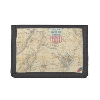 Vintage Northern Virginia Civil War Map (1862) Trifold Wallet