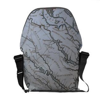 Vintage Northern Virginia Map Commuter Bag